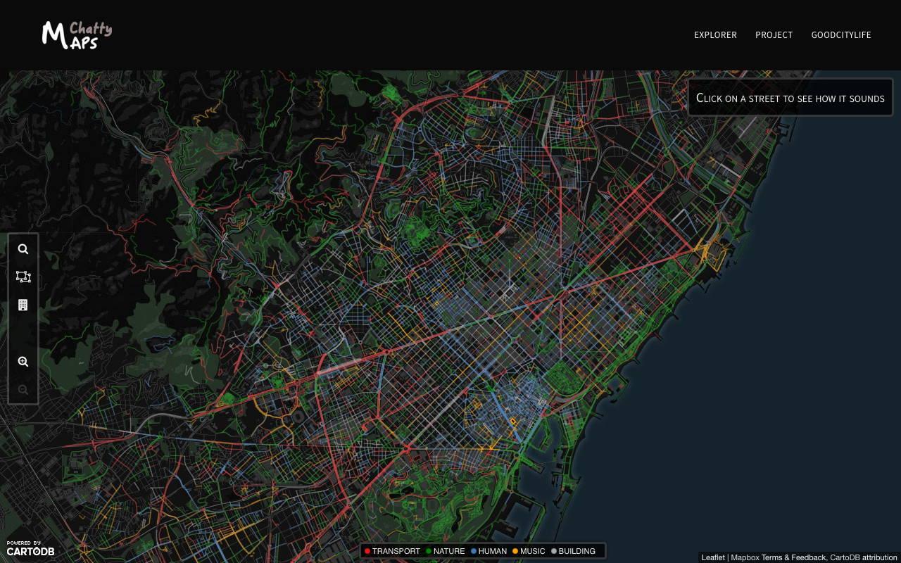 Paisaje Sonoro de la Ciudad de Barcelona : Imágen © Chatty Maps