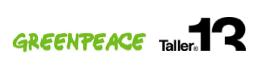 Logos © Taller 13 y © Greenpeace México