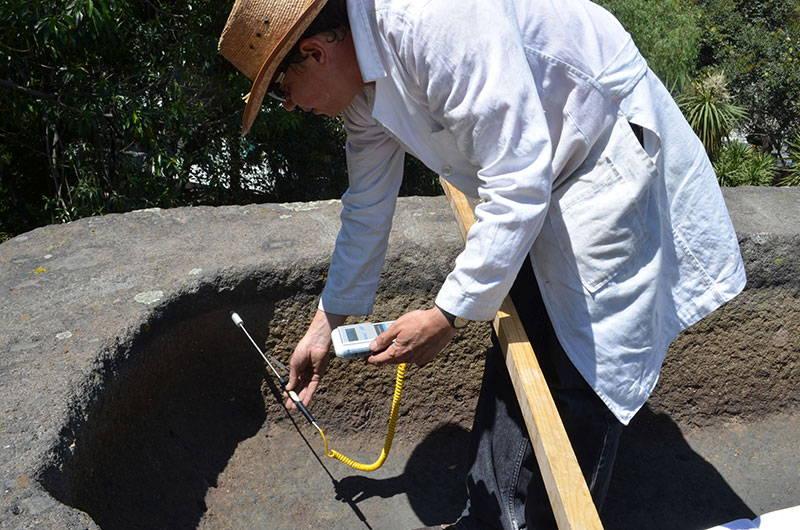 Especialistas del INAH llevaron a cabo un estudio interdisciplinario que permitirá identificar los deterioros derivados de su exposición a la intemperie : Foto © Laboratorio de Conservación MNA