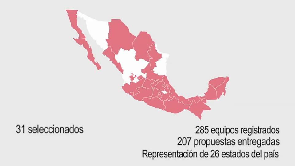 Participación de México XV Bienal de Arquitectura de Venecia 2016 : Mapa © Instituto Nacional de Bellas Artes