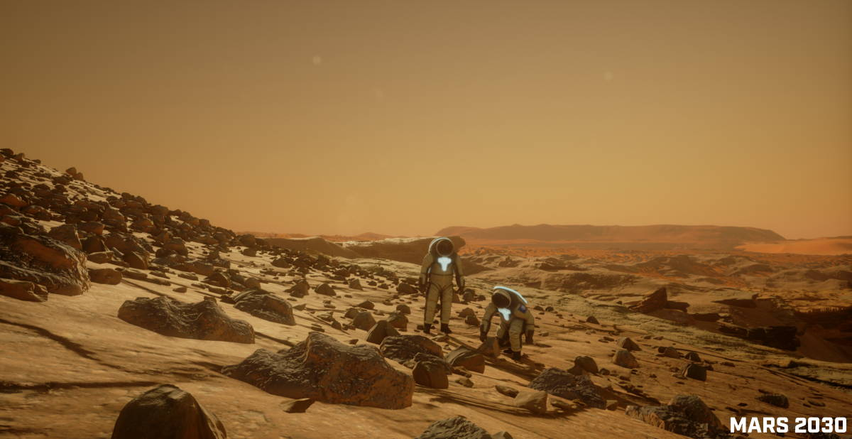 """Viaje al Planeta Rojo: La experiencia de VR """"Mars 2030"""" hace su debut en la GTC ; Fotografía © NVIDIA Corporation"""