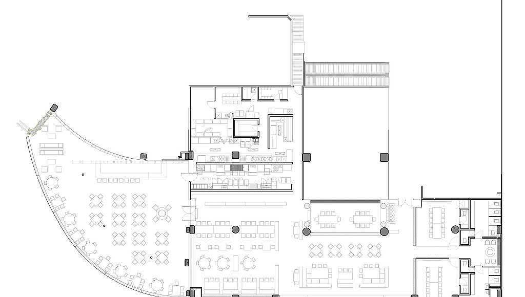 Planta Arquitectónica Grill Prime Monterrey : Dibujo © Pasquinel Studio