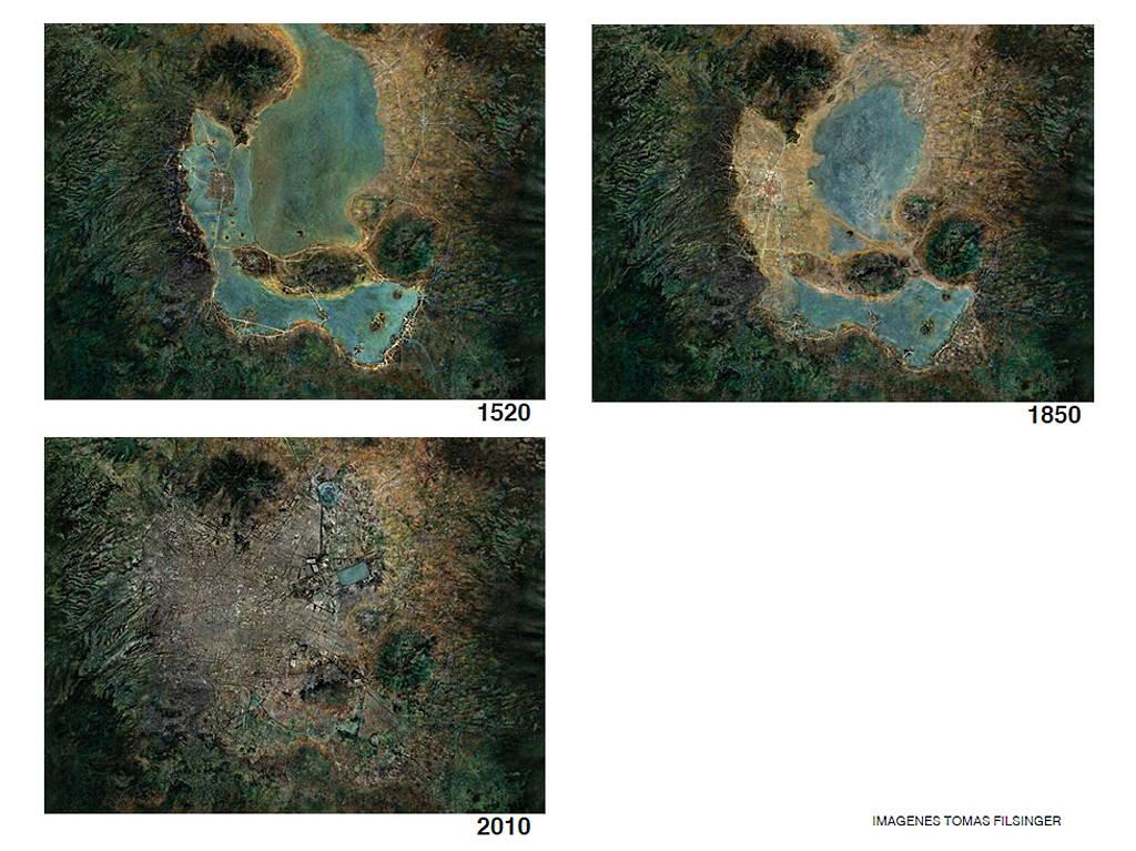 Transformación de la Cuenca del Valle de México : Fotogrametrías © Tomas Filsinger