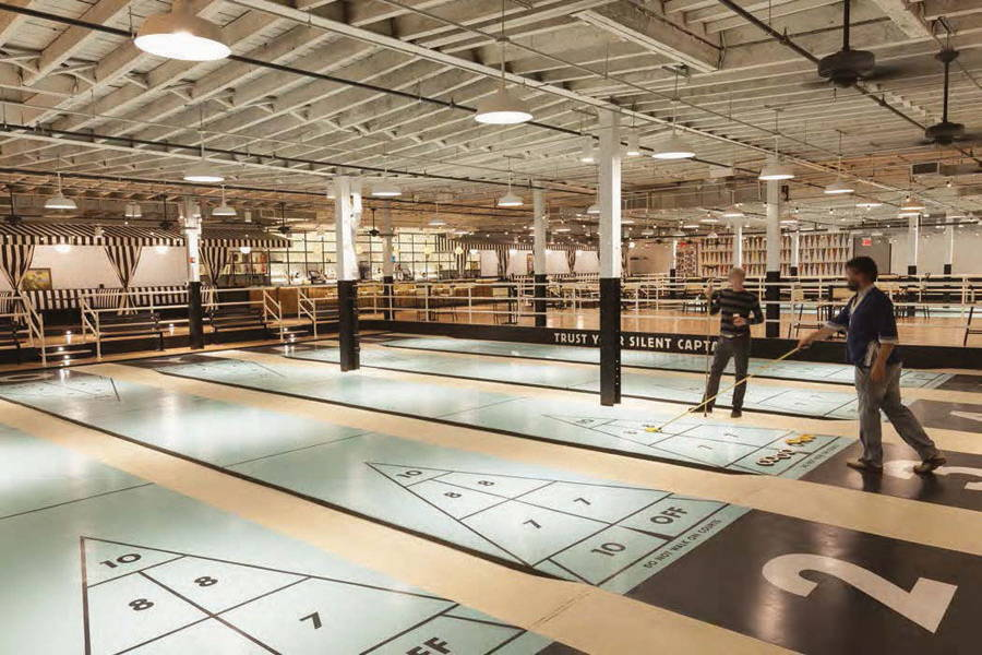 The Royal Palms Shuffleboard Club Brooklyn, NY - Andre Tchelistcheff Architects New York, NY : Photo Credit © Seong Kwon/Christopher Mosier