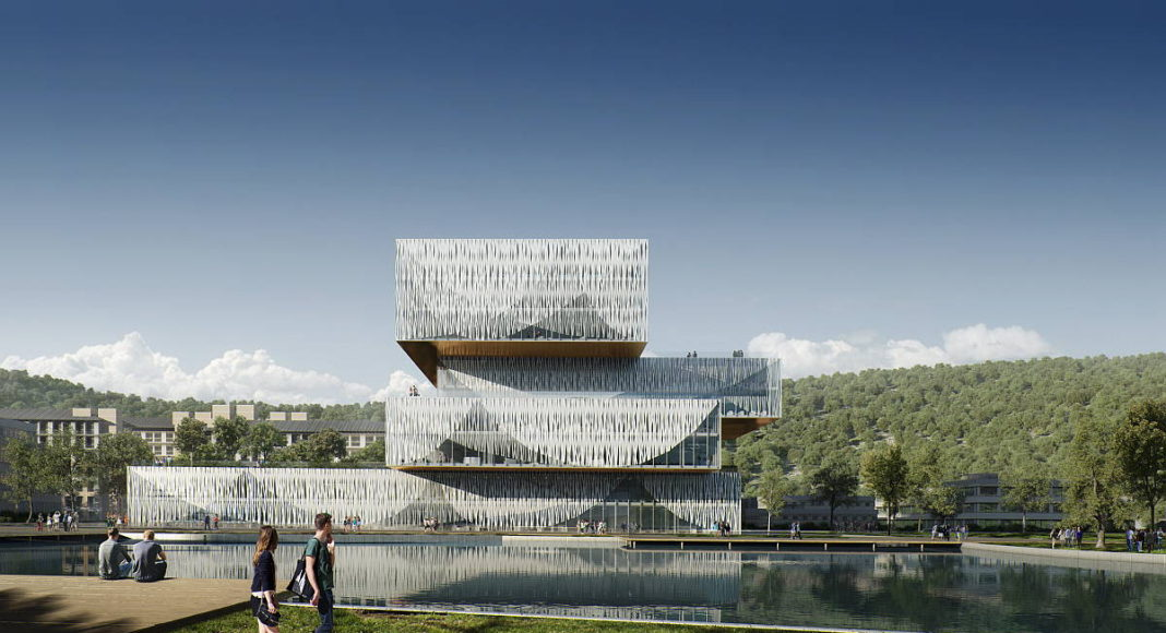 Wenzhou Kean University Library and Student Center by Schmidt Hammer Lassen Architects : Visual by © Beauty & The Bit, courtesy of Schmidt Hammer Lassen Architects