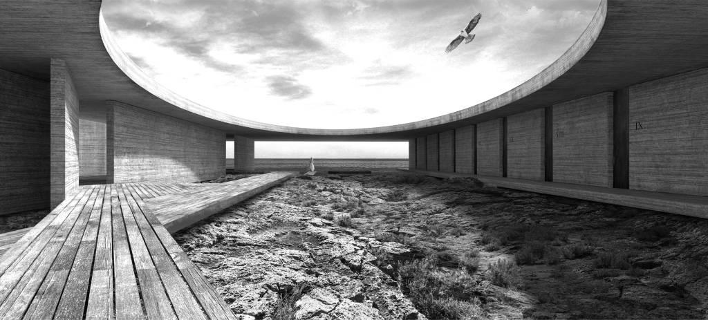 Mención de Honor Concurso Lighthouse Sea Hotel 2U : Proposal © Javier Sierra Saucedo, Antonio Pulido Roa, Manuel María Granados de Osma, Natasa Stanacev