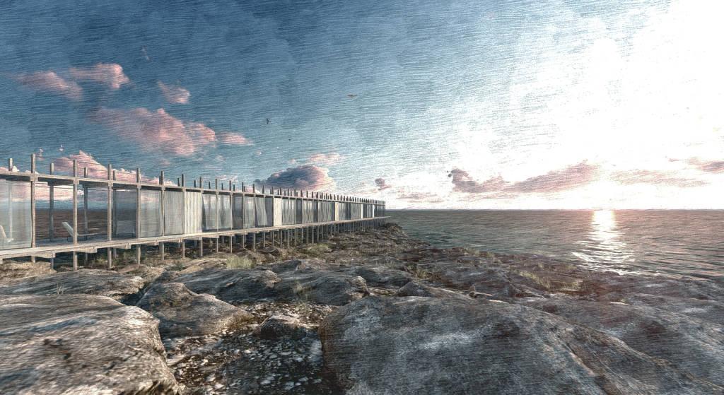 Mención de Honor Concurso Lighthouse Sea Hotel MAS : Proposal © Andrea Schiavio, Nicola Andreani, Jacopo Josiah Mazzucchelli