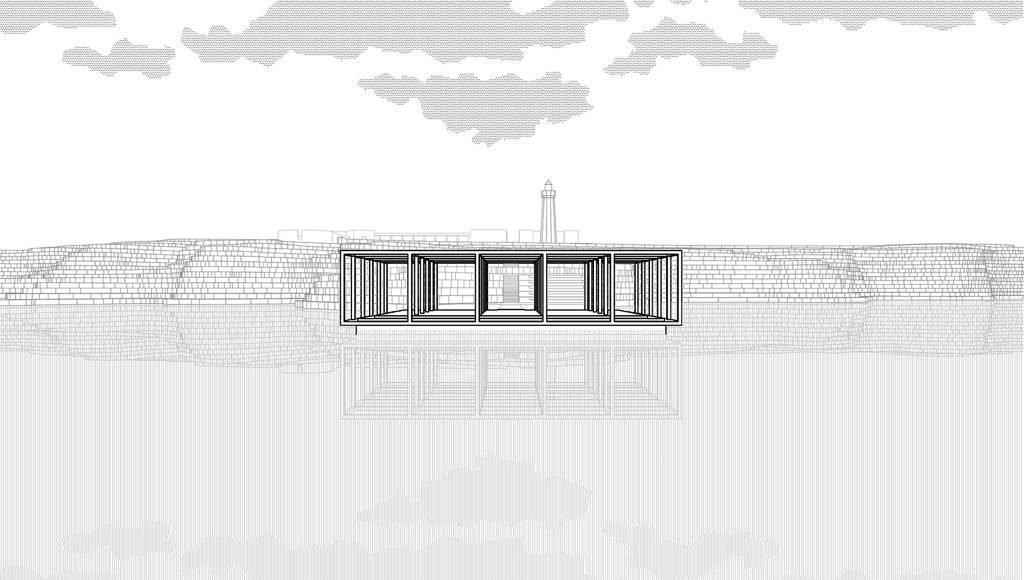 Mención de Honor Gold Concurso Lighthouse Sea Hotel STANZA : Proposal © Sante Simone, Laura Fabriani, Alessandro Zappaterreni, Nunziastella Dileo, Maria Abbracciavento, Giuseppe Lorenzi