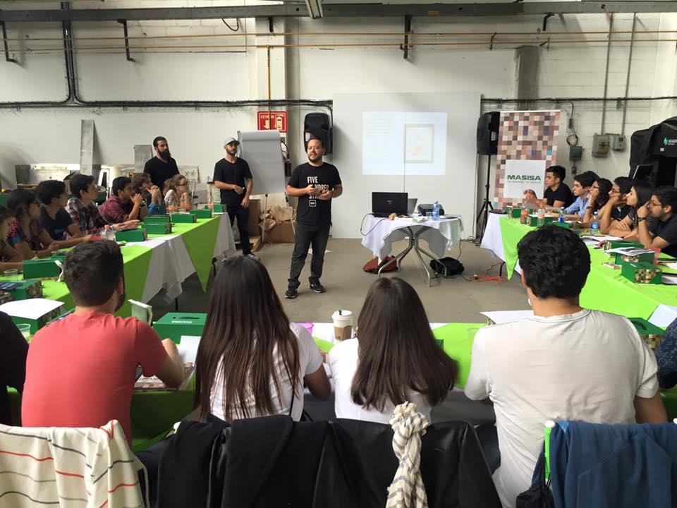 Materiam en el Workshop Diseña Smart impartido por MASISA México : Fotografía © MASISA México