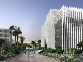 Universidad de Tel Aviv Perspective View from Western Gate : Render © Atelier d'Architecture Michel Remon