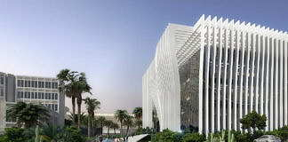 Universidad de Tel Aviv Perspective View from Western Gate : Render © Atelier d'Architecture Michel Remon