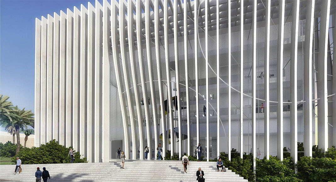 Universidad de Tel Aviv Perspective View Main Entrance : Render © Atelier d'Architecture Michel Remon