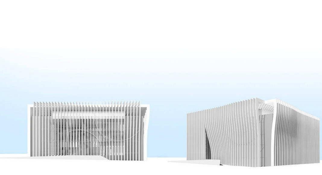 Centro de Nanociencia y Nanotecnología de la Universidad de Tel Aviv Perspective View Model 1 : Model © Atelier d'Architecture Michel Remon