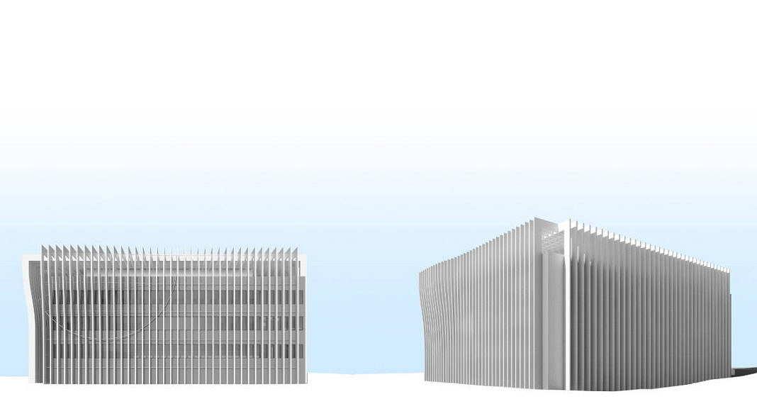 Centro de Nanociencia y Nanotecnología de la Universidad de Tel Aviv Perspective View Model 2 : Model © Atelier d'Architecture Michel Remon
