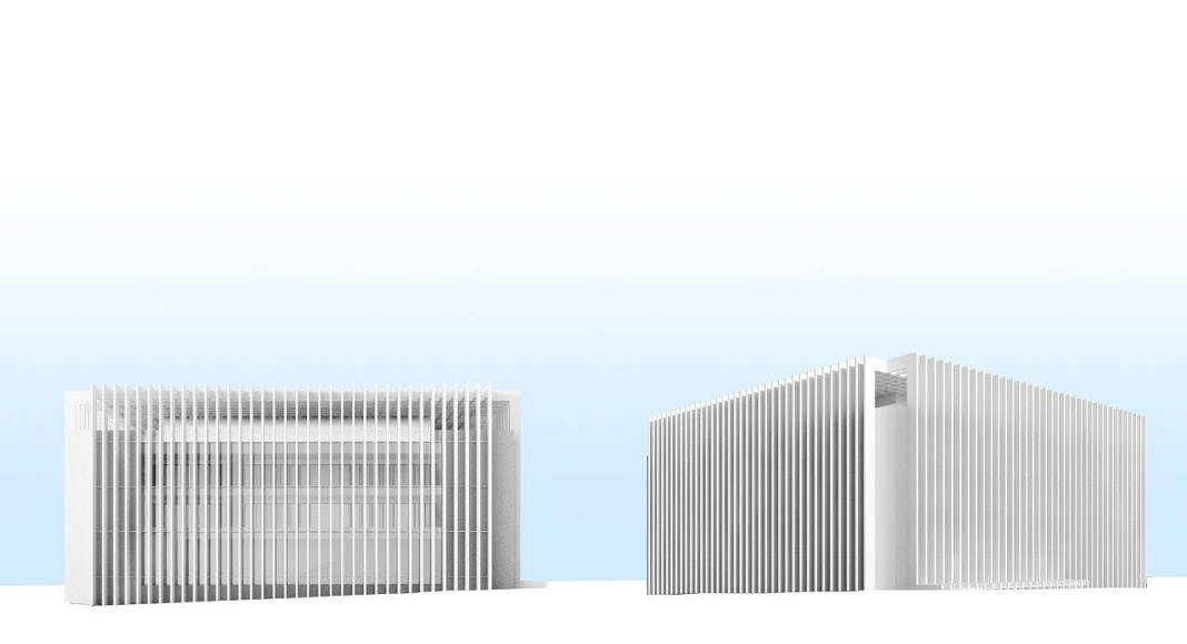 Centro de Nanociencia y Nanotecnología de la Universidad de Tel Aviv Perspective View Model 3 : Model © Atelier d'Architecture Michel Remon