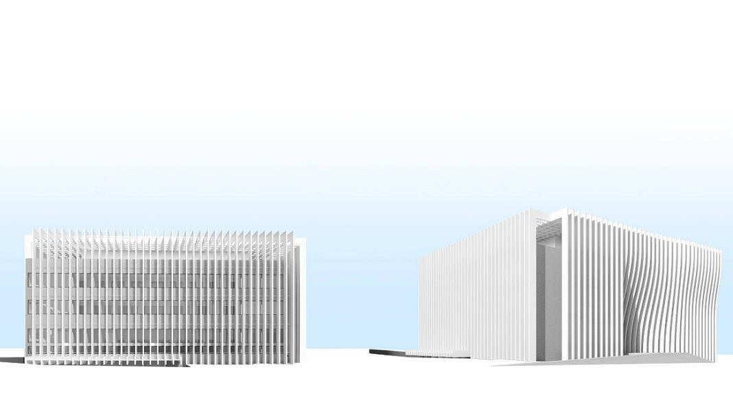 Centro de Nanociencia y Nanotecnología de la Universidad de Tel Aviv Perspective View Model 4 : Model © Atelier d'Architecture Michel Remon