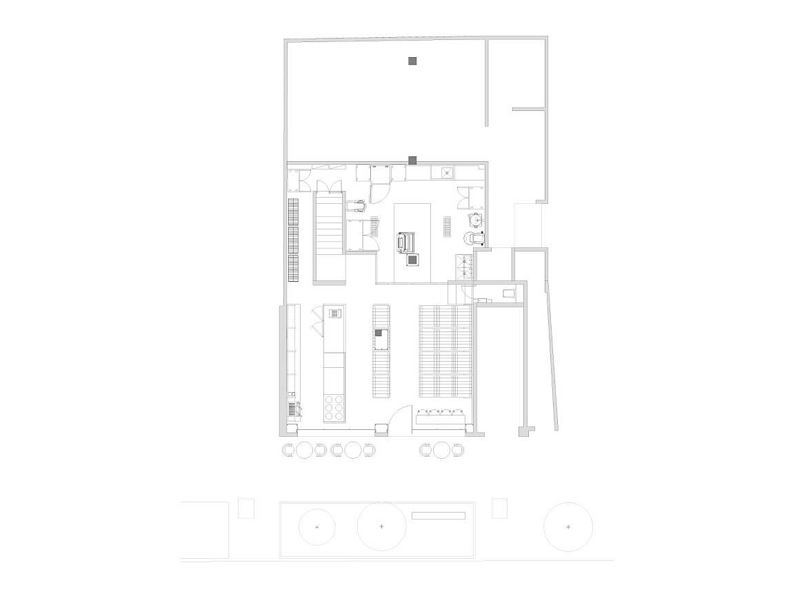 Panader a aromas dise o de central de arquitectura y for Dibujos de muebles para planos arquitectonicos