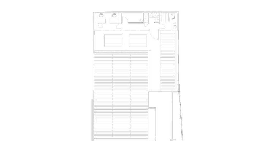 Planta Azotea Panadería Aromas diseño de Central de Arquitectura y Pasquinel Studio : Dibujo © PASQUINEL Studio