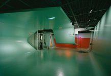 Neil Denari, Interrupted Projections: Installation view, 1996. AP168 Neil Denari records, Canadian Centre for Architecture, Montreal. Gift of Neil Denari. Photograph © Fuijitsuka Misumasa