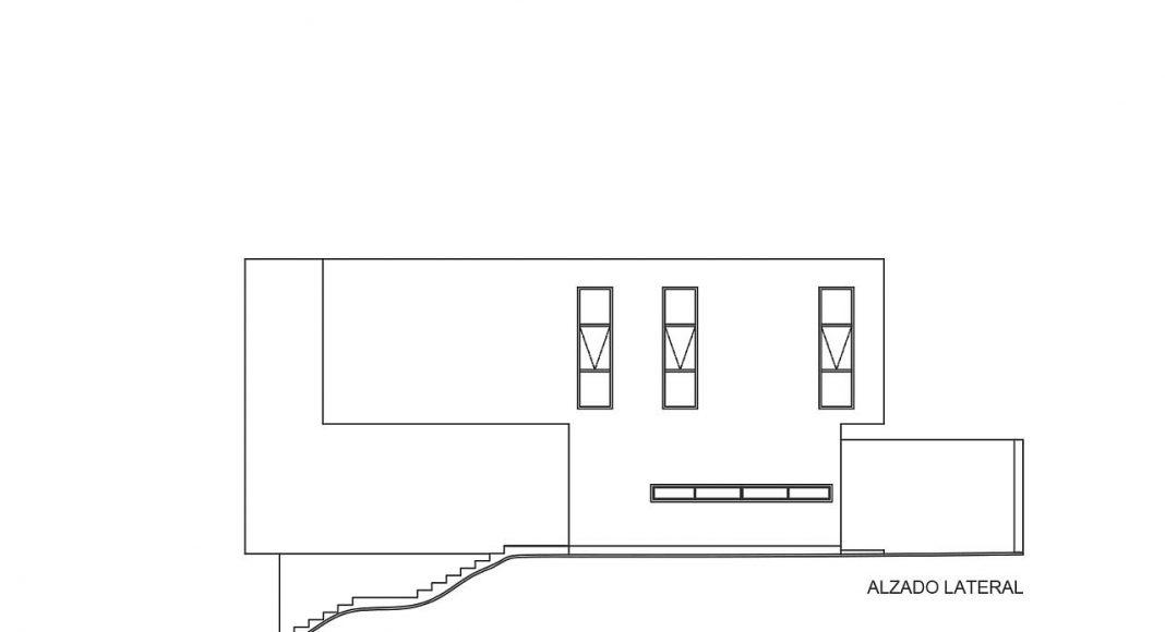 Casas Cuatas, Los Robles Alzado Lateral : Dibujos © La Desarrolladora