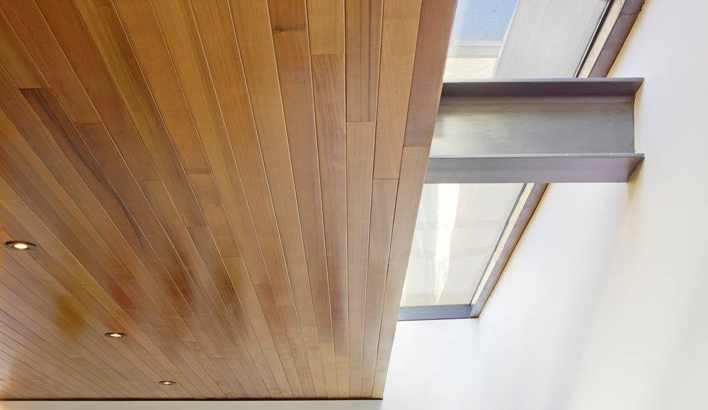 Hybrid Design detail of stair and skylight by Terry & Terry Architecture : Photo © Bruce Damonte