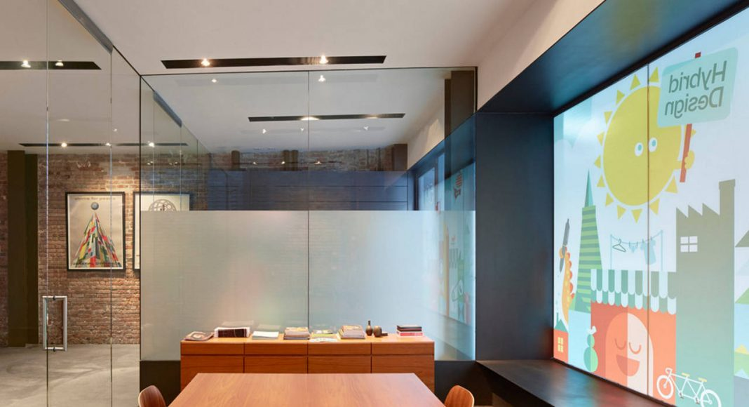 Hybrid Design conference area and detail of steel bay window by Terry & Terry Architecture : Photo © Bruce Damonte