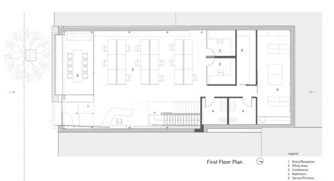 Hybrid Design first/ground floor plan by Terry & Terry Architecture : Drawing © Terry & Terry Architecture