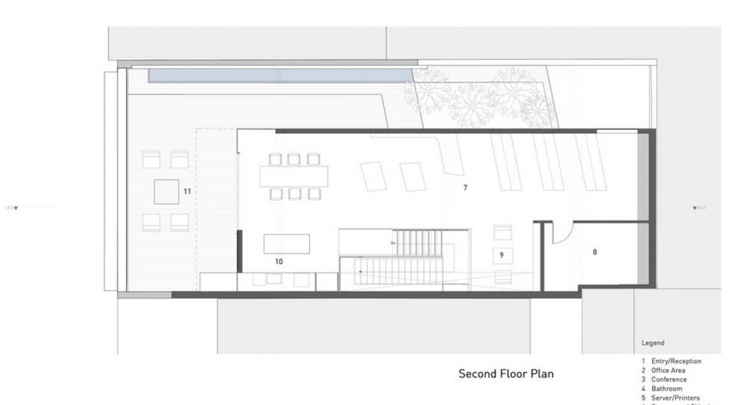 Hybrid Design second floor plan by Terry & Terry Architecture : Drawing © Terry & Terry Architecture