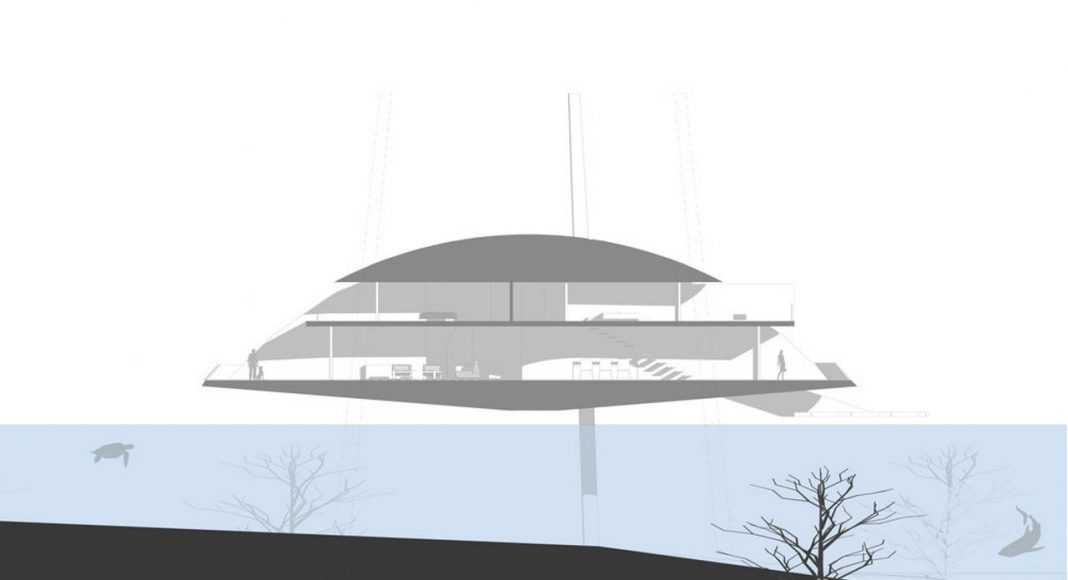 Tidal House Section 2 : Photo credit © Terry & Terry Architecture