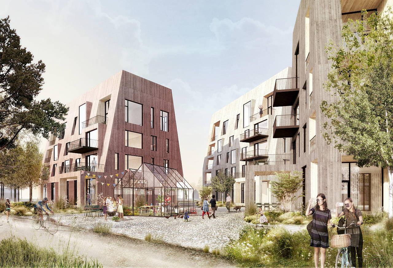 Örnsro Timber Town by C.F. Møller Architects in Örebro : Photo © C.F. Møller Architects