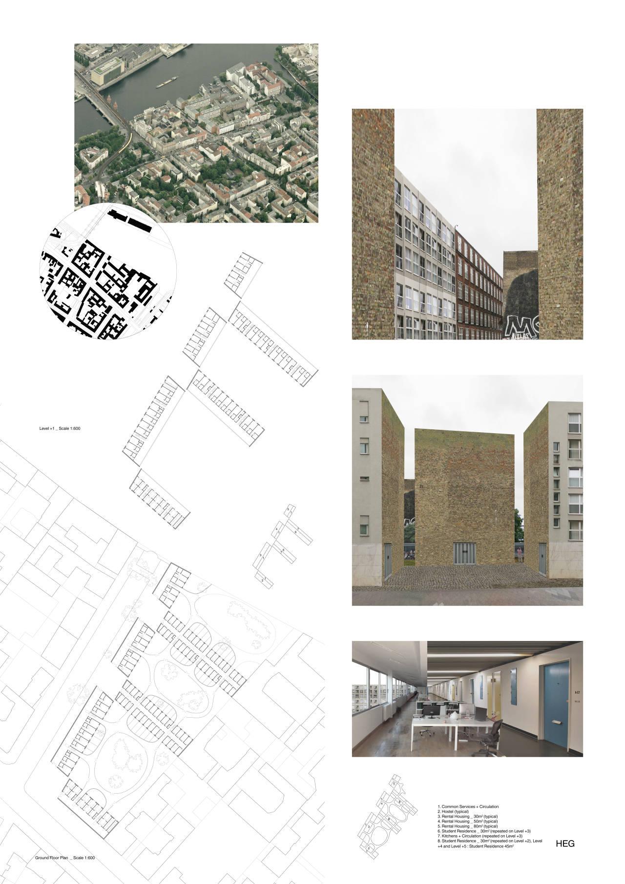 Ganador del Primer Premio para Jóvenes Arquitectos del Concurso Berlín University Residences : Lámina © THANASSIS MANIS (COSMOS)