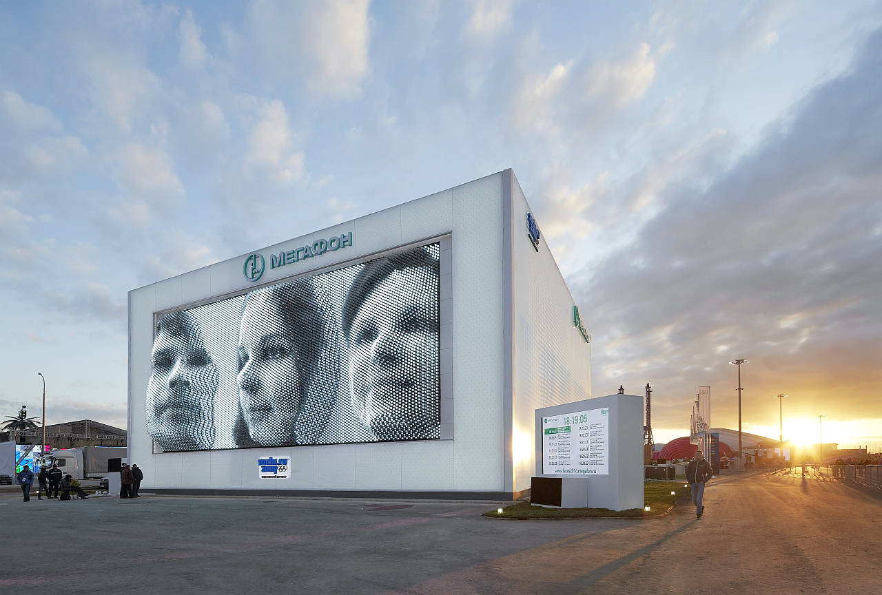 MegaFaces pavilion Sochi Winter Olympics and Paralympic Games : Photo © Hufton + Crow
