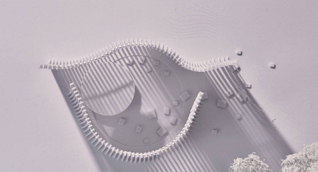 Serpentine Summer House 2016 designed by Asif Khan : Architectural model © Asif Khan