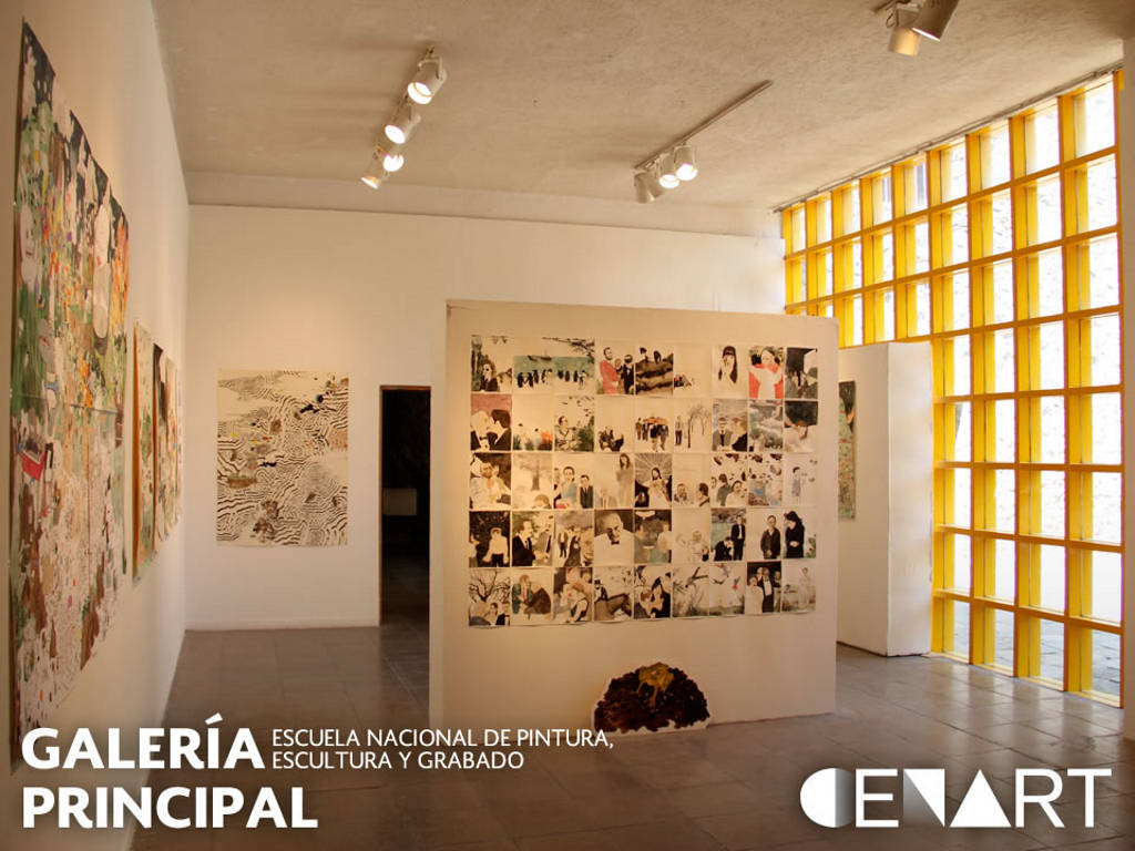 """Galería Principal de la Escuela Nacional de Pintura, Escultura y Grabado """"La Esmeralda"""", CENART : Fotografía © Secretaría de Cultura de México"""