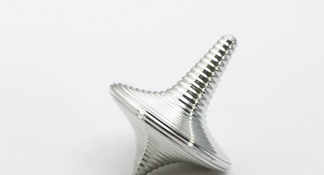 Zen Spinning Top - Aluminium : Photo © ENSSO