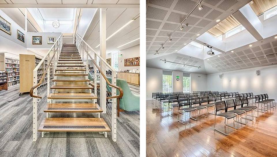 Escalera para el Ala para Adultos y Galería/Área Comunitaria en el Segundo Nivel : Photo credit: Bob Gothard