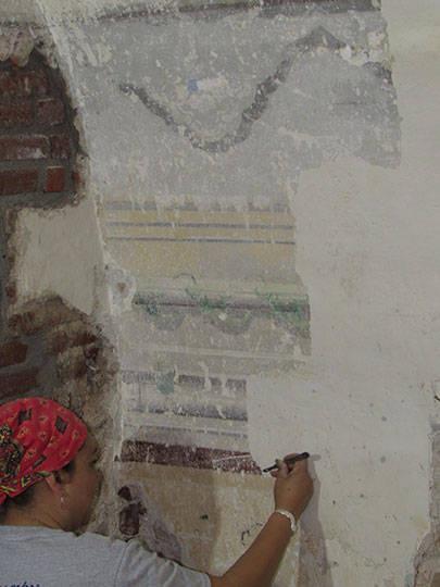 Liberación de ventanas históricas : Foto © Fernanda Martínez, INAH