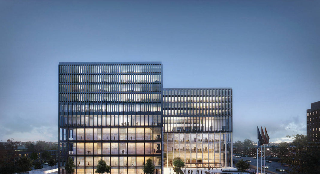 New Amsterdam Courthouse Exterior View by KAAN Architecten : Render © Beauty & The Bit and © KAAN Architecten