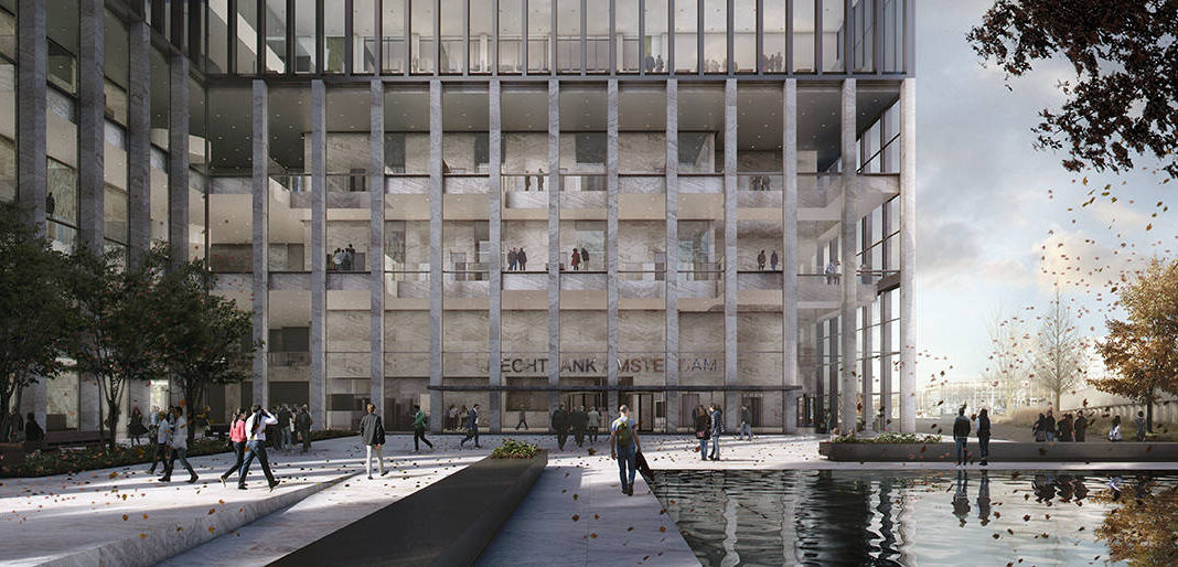 New Amsterdam Courthouse Exterior Plaza by KAAN Architecten : Render © Beauty & The Bit and © KAAN Architecten