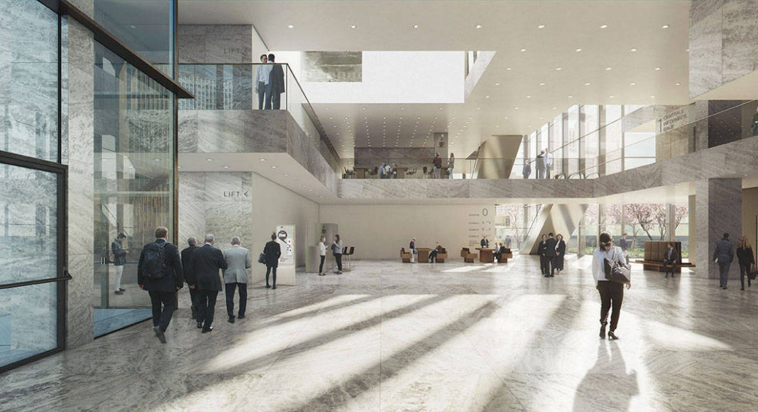 New Amsterdam Courthouse Central Foyer by KAAN Architecten : Render © Beauty & The Bit and © KAAN Architecten