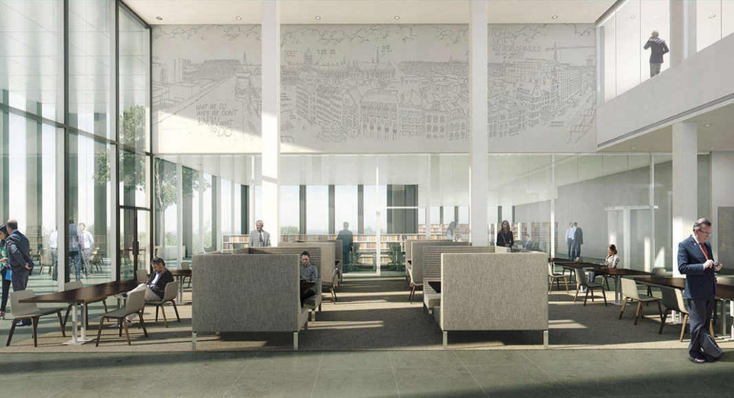 New Amsterdam Courthouse Knowledge Center by KAAN Architecten : Render © Beauty & The Bit and © KAAN Architecten