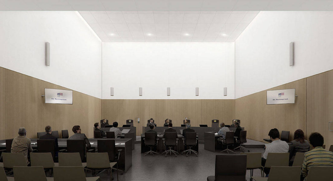 New Amsterdam Courthouse Courtroom by KAAN Architecten : Render © Beauty & The Bit and © KAAN Architecten