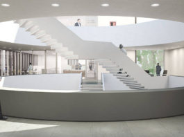 New Amsterdam Courthouse Stairs by KAAN Architecten : Render © Beauty & The Bit and © KAAN Architecten