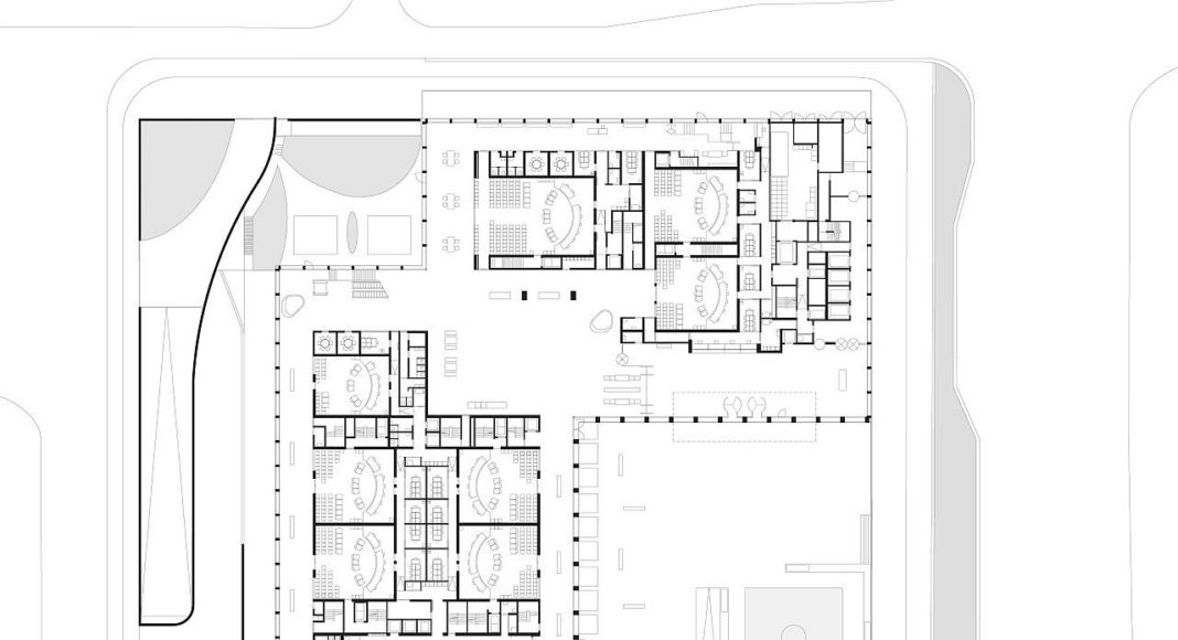 New Amsterdam Courthouse Level 00 by KAAN Architecten : Drawing © KAAN Architecten