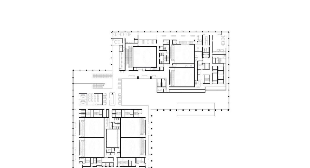 New Amsterdam Courthouse Level 01 by KAAN Architecten : Drawing © KAAN Architecten