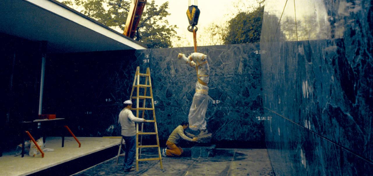 Celebrean el 30 Aniversario del Pabellón Mies van der Rohe : Fotografía © Fundació Mies van der Rohe