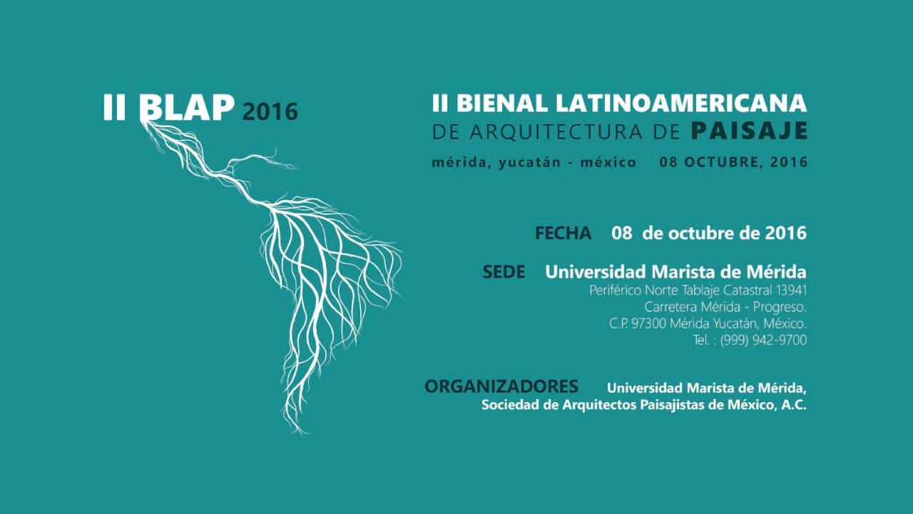 Segunda Bienal Latinoamericana de Arquitectura de Paisaje - arquiRED