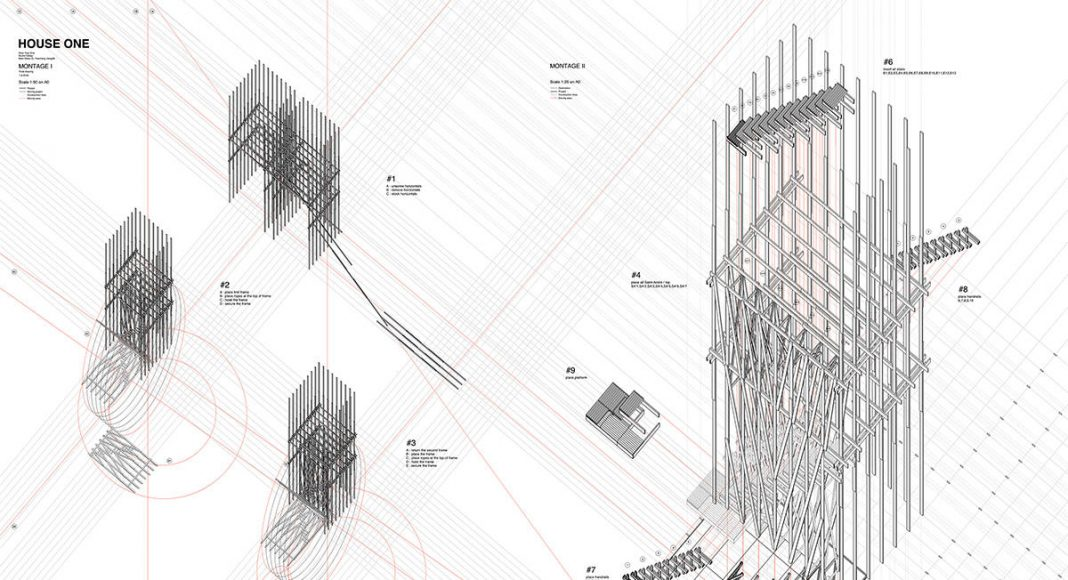 HOUSE ONE Montage : Drawing © ALICE EPFL
