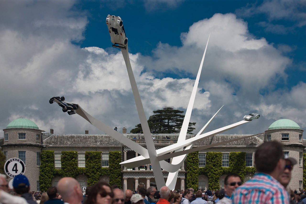 BMW Centenary Sculpture Goodwood Festival of Speed 2016 by Gerry Judah : Photo credit © David Barbour