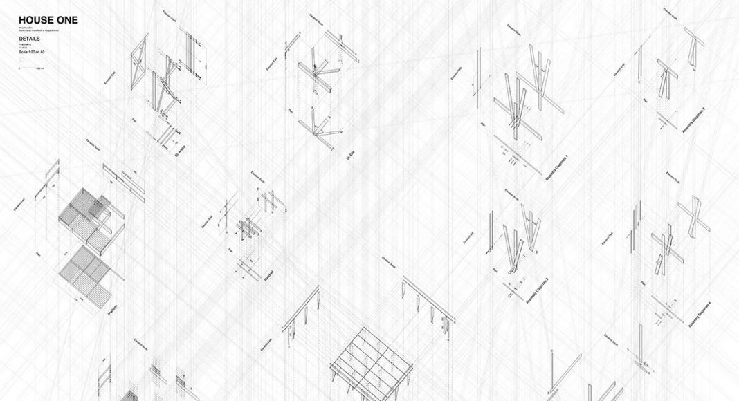HOUSE ONE Details : Drawing © ALICE EPFL